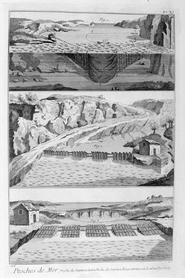 Salmon Fishing, 1751-1777--Giclee Print