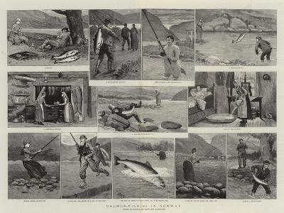 Salmon-Fishing in Norway--Giclee Print