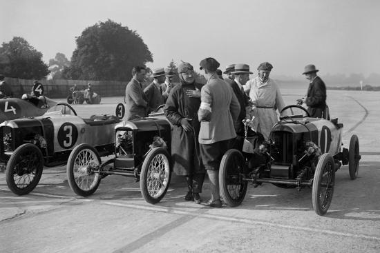 Salmson and two GNs, JCC 200 Mile Race, Brooklands, 1922-Bill Brunell-Photographic Print