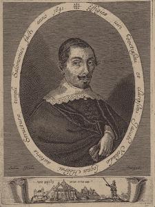 Portrait of Jacob Judah Leon (1602-167) by Salom Italia