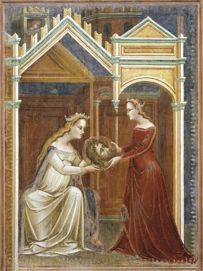 Salome Offering the Head of John the Baptist to Her Mother Herodius, C.1350-60--Giclee Print