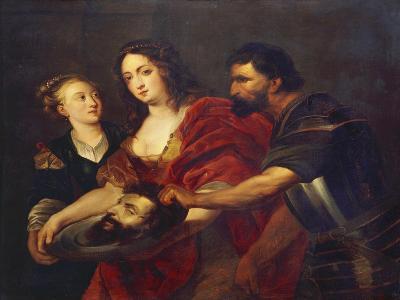 Salomé Receives the Head of John the Baptist, 17th Century-Peter Paul Rubens-Giclee Print