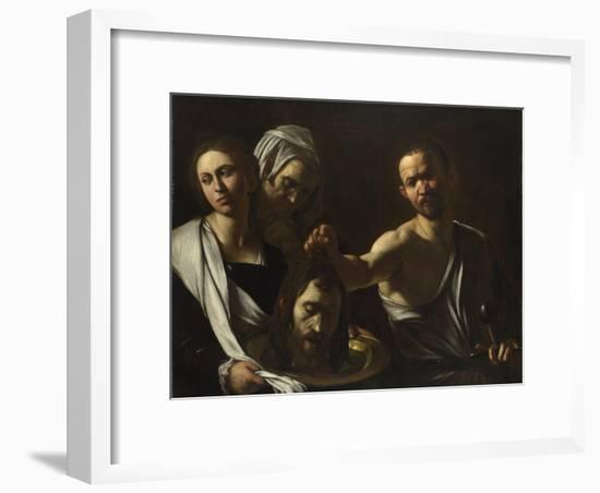 Salome Receives the Head of John the Baptist, C. 1608-1610-Caravaggio-Framed Giclee Print