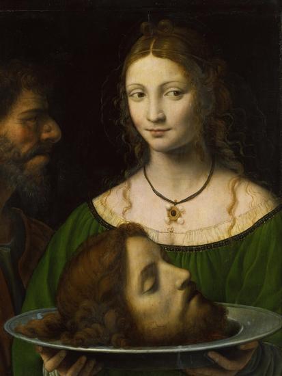 Salome with the Head of John the Baptist-Bernardino Luini-Giclee Print