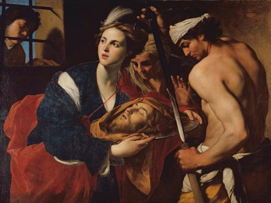 Salome with the Head of John the Baptist-Massimo Stanzioni-Giclee Print