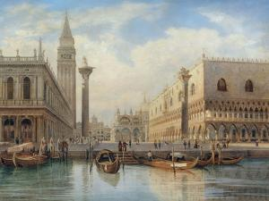 La Piazza San Marco, Venice, 1864 by Salomon Corrodi
