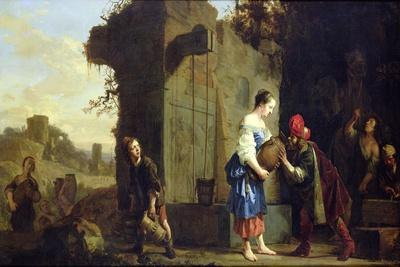 Eliezer and Rebecca at the Well, 1660