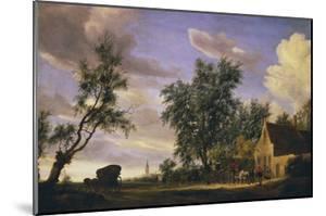 The White Swan Inn by Salomon van Ruysdael