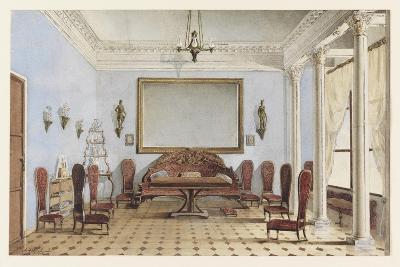 Salon Interior, 1858-Andrei Alexeevich Redkovsky-Giclee Print