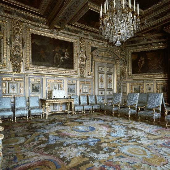 Salon of Louis XIII in Fontainebleau, 17th century-Unknown-Photographic Print