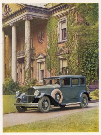 Saloon Parked Outside a Stately Mansion--Photographic Print