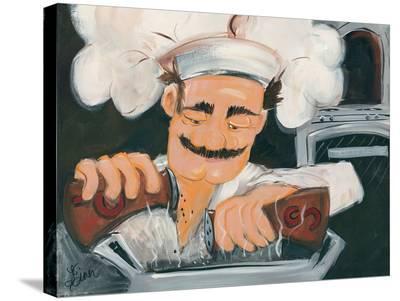 Salt And Pepper Chef-Terri Einer-Stretched Canvas Print