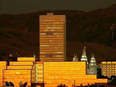 Salt Lake City at Sunset-James P^ Blair-Photographic Print