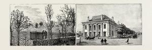 Salt Lake City, Utah, Usa: Brigham Young's Grave (Left); the Theatre (Right)