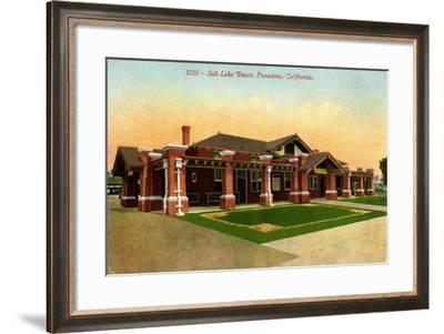 Salt Lake Depot, Pasadena, California, C.1910-35--Framed Giclee Print