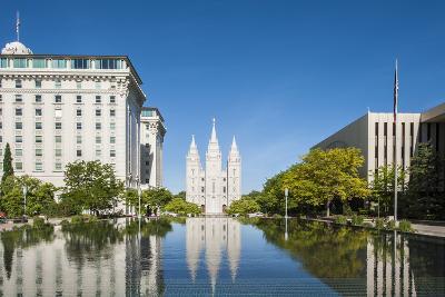 Salt Lake Temple, Temple Square, Salt Lake City, Utah, United States of America, North America-Michael DeFreitas-Photographic Print
