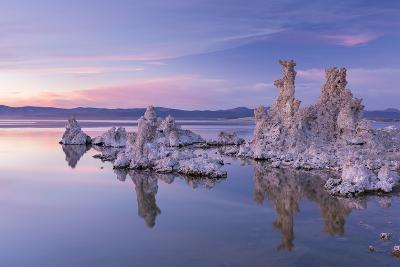 Salt Pillar Formations at Sunset, South Tufa, Mono Lake, California, USA-Adam Burton-Photographic Print