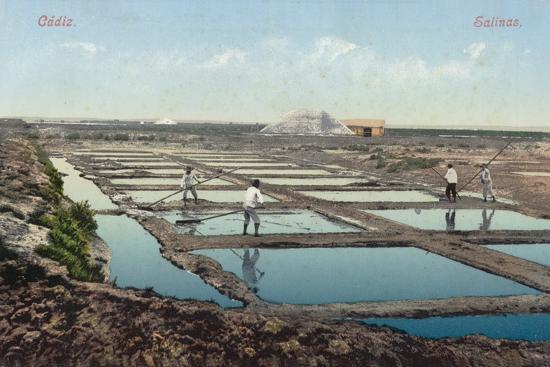 Salt Ponds, Cadiz, Spain--Photographic Print