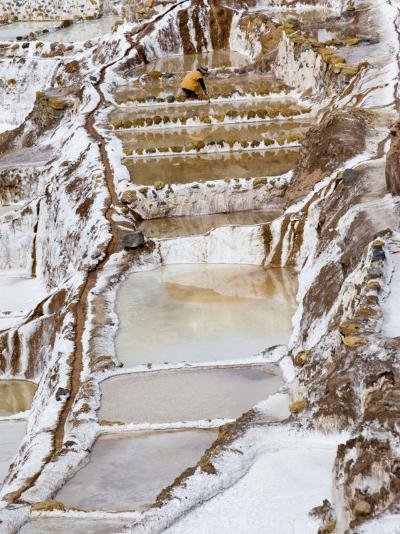 Salt Ponds, Maras, Peru-Diane Johnson-Photographic Print