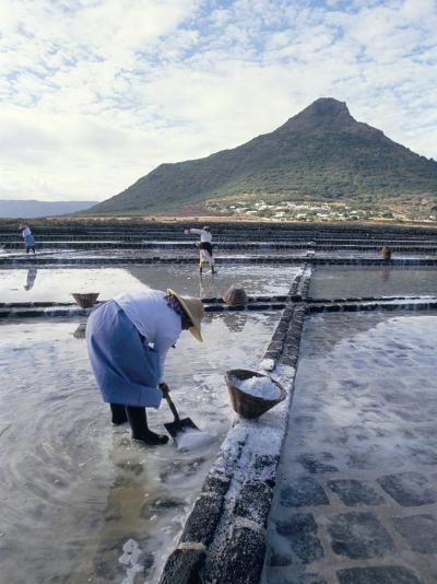 Salt Workers, Mauritius, Indian Ocean, Africa-Alain Evrard-Photographic Print