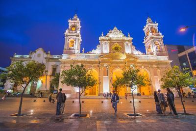 Salta Cathedral at Night, Argentina-Matthew Williams-Ellis-Photographic Print