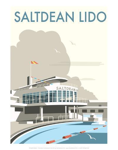 Saltdean Lido - Dave Thompson Contemporary Travel Print-Dave Thompson-Art Print