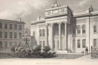 Salters Hall, from 'London and it's Environs in the Nineteenth Century'-Thomas Hosmer Shepherd-Giclee Print