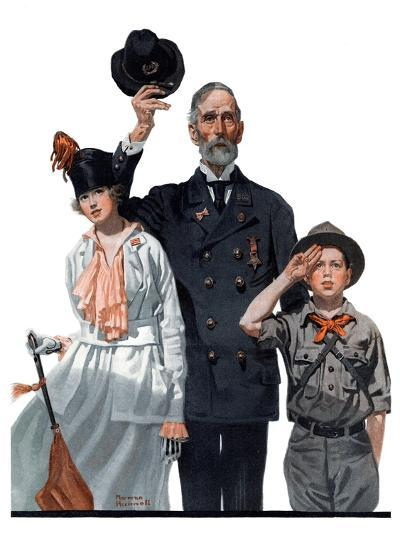 """""""Salute to Colors"""", May 12,1917-Norman Rockwell-Giclee Print"""