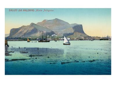Saluti Da Palermo, Sicily, Italy--Art Print
