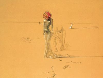 Female Figure with Head of Flowers, 1937 by Salvador Dal?