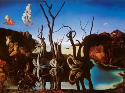 Swans Reflecting Elephants, c.1937 by Salvador Dal?