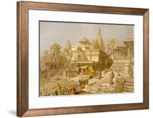 The Temple of Juggernauth, Oodepoore, from 'India Ancient and Modern', 1867 (Colour Litho) by Salvador Dal?