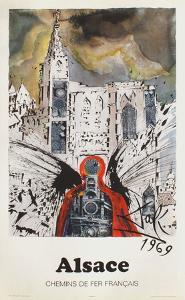 Affiches SNCF: Alsace by Salvador Dalí