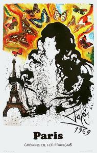 Affiches SNCF: Ile-De-France by Salvador Dalí