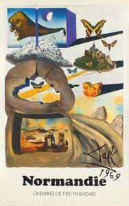 Affiches SNCF: Normandie by Salvador Dalí