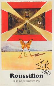 Affiches SNCF: Roussillon by Salvador Dalí