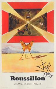 Affiches SNCF: Roussillon by Salvador Dalí