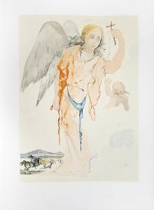Angel with Cross by Salvador Dalí