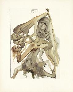 Divine Comedie, Enfer 04: Les IImbes by Salvador Dalí