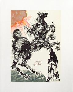 Divine Comedie, Enfer 06: Cerbère by Salvador Dalí