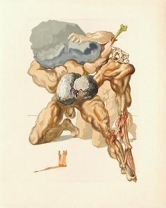 Divine Comedie, Enfer 07: Les Avares Et Les Prodigues by Salvador Dalí