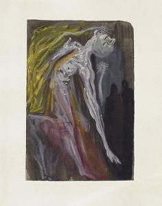 Divine Comedie, Enfer 09: Les Erynnies by Salvador Dalí