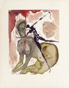 Divine Comedie, Enfer 12: Le Minotaure by Salvador Dalí