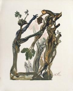 Divine Comedie, Enfer 13: La Forêt Des Suicidés by Salvador Dalí