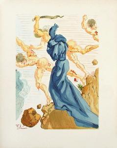 Divine Comedie, Enfer 15: Les Margelles du Phlegeton by Salvador Dalí