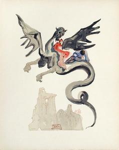 Divine Comedie, Enfer 17: Les Usuriers by Salvador Dalí