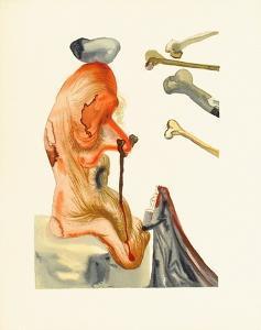 Divine Comedie, Enfer 18: Les Trompeurs by Salvador Dalí