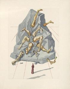 Divine Comedie, Enfer 19: Les Simoniaques by Salvador Dalí
