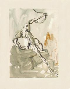 Divine Comedie, Enfer 24: Les Voleurs by Salvador Dalí