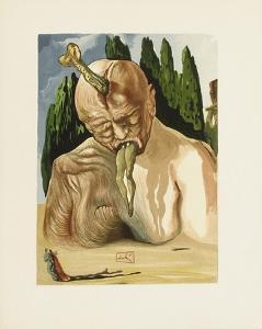 Divine Comedie, Enfer 27: Un Diable Logicien by Salvador Dalí